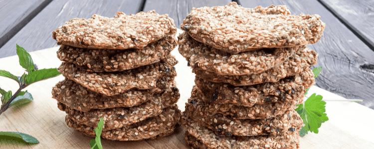 Jernrike, myke knekkebrød uten egg og mel