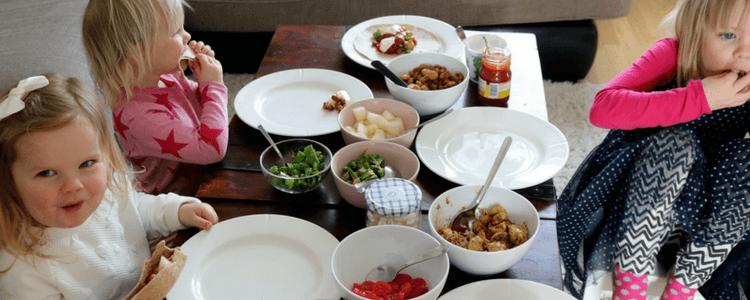 Barnevennlig taco med kylling og spenstig tilbehør