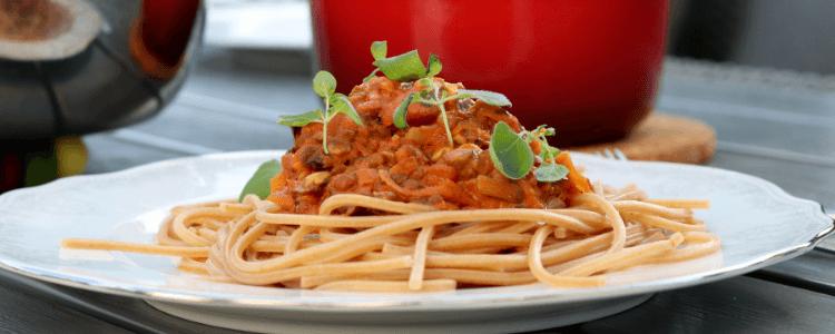 Bare Bra Barnemats spagetti bolognese med linser eller kjøtt