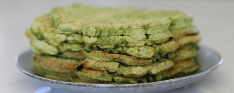 Matpakkevafler med skjulte grønnsaker - kan gis fra 6 måneder