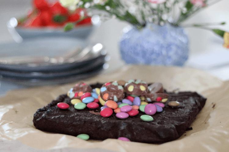 Brownie med en hemmelig ingrediens - uten egg og gluten